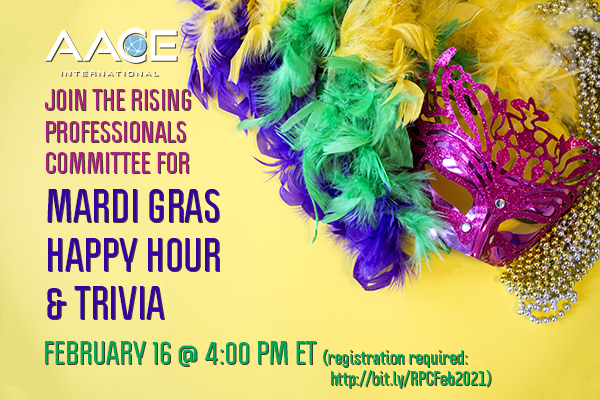 Join the Rising Professionals Committee for a Mardi Gras Happy Hour & Trivia: http://bit.ly/RPCFeb2021